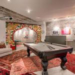 gallery loft living and pool table