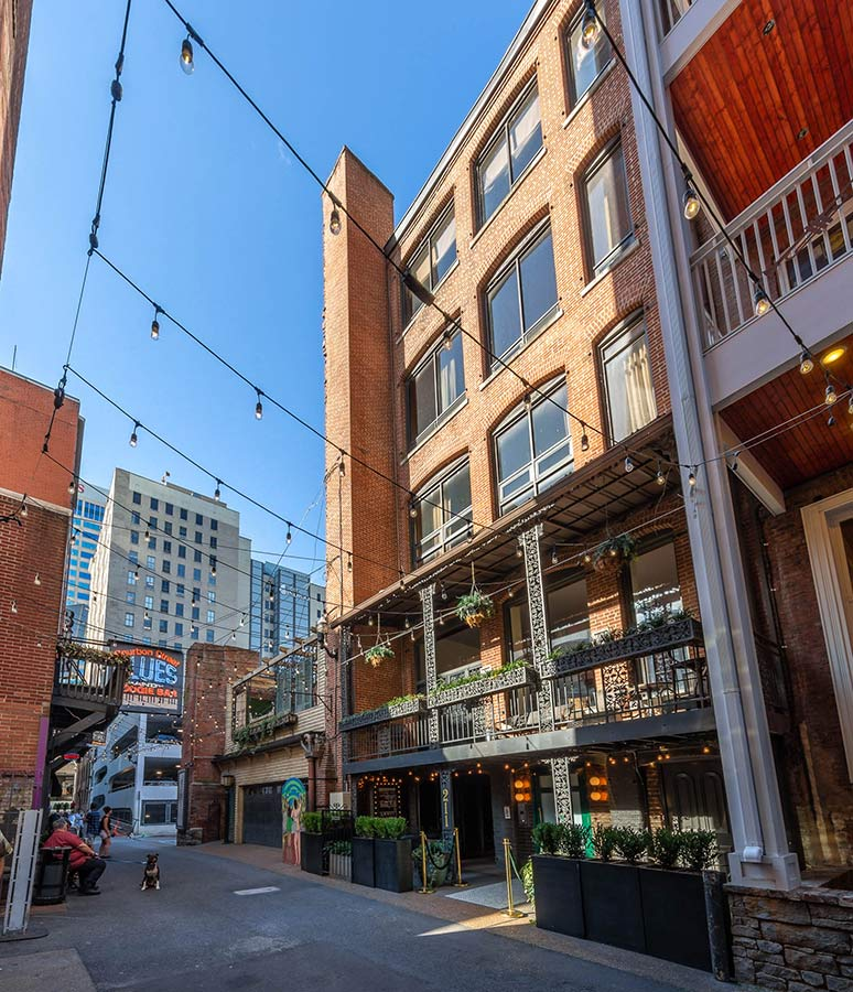 printers alley lofts main building nashville tn