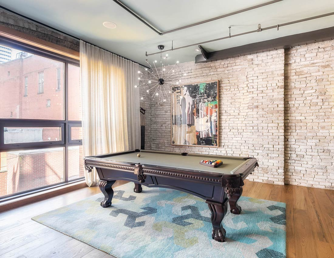 printers alley urban loft pool table